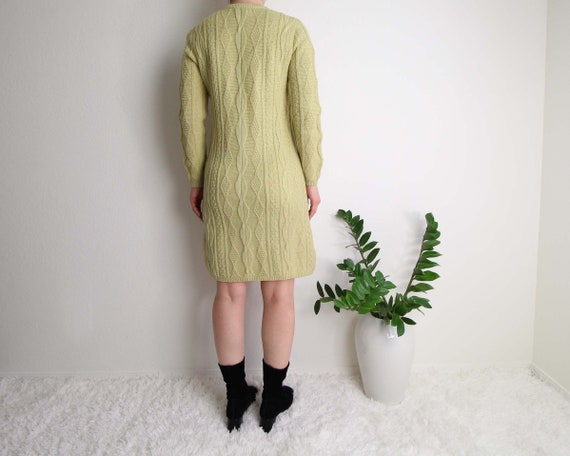 Vintage Sweater Dress Womens Small 1960s Mod Wool… - image 6