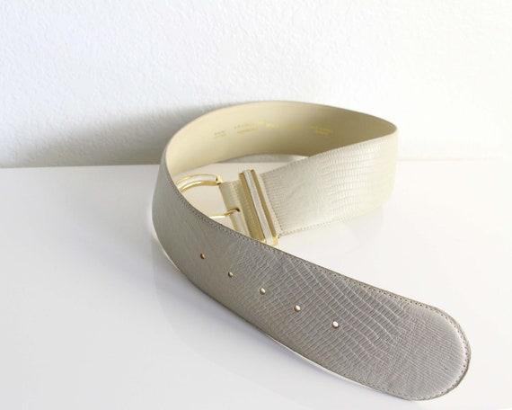Vintage Womens Belt 1980s Wide Leather Belt - image 8