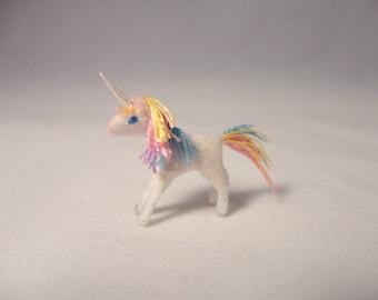 Tiny Rainbow Unicorn for the Dollhouse