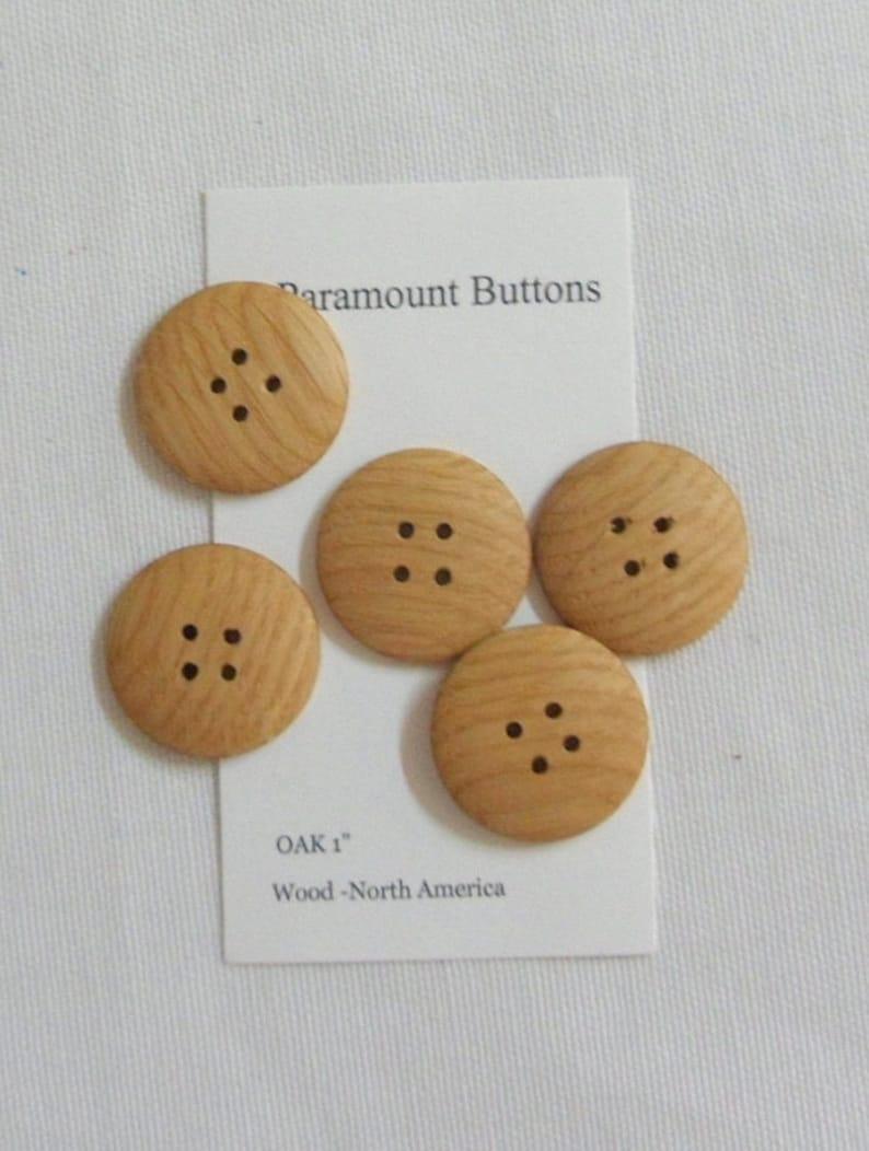 Wood Buttons 10  1 inch  Round Oak Buttons Craft Supplies Knitting Buttons Sewing Supplies
