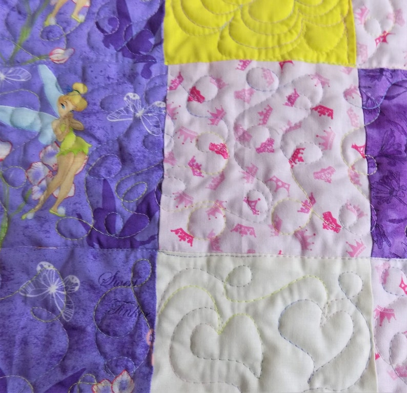 Baby Girl Quilt Pink And Purple Handmade Quilt