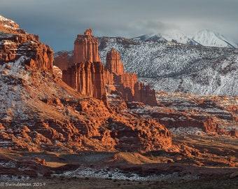 Utah Sunset Fisher Towers Moab Utah Near Arches National Park
