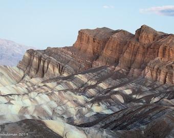Death Valley Landscape – Zabriskie Point Badlands
