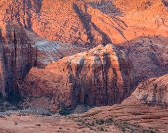 Utah Landscape Snow Canyon Red Rock Close-up