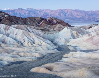 Death Valley Scenic Landscape – Pastel Badlands at Zabriskie Point
