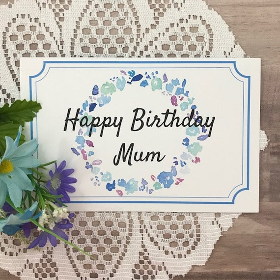 Printable Birthday Card For Mum Greeting Card For Mom Etsy