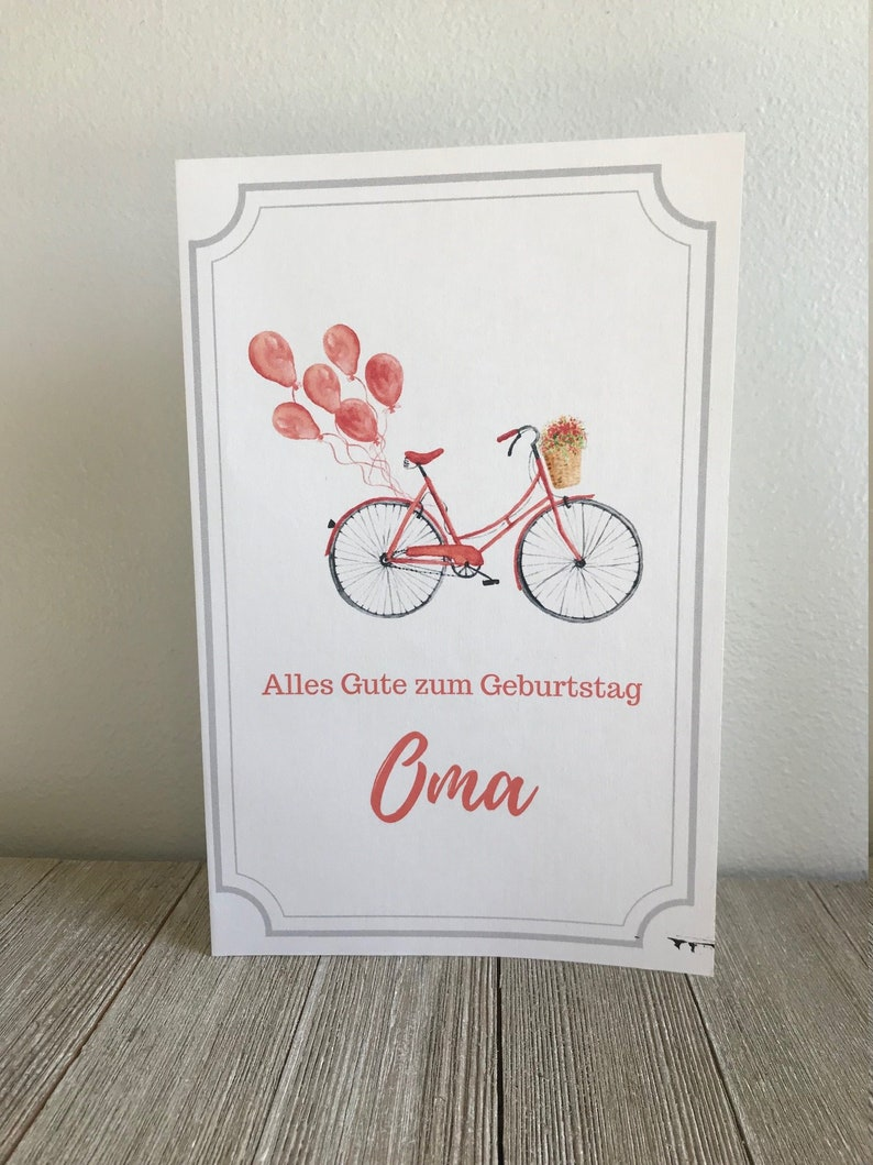 Alles Gute Zum Geburtstag Oma Printable Birthday Card For Etsy
