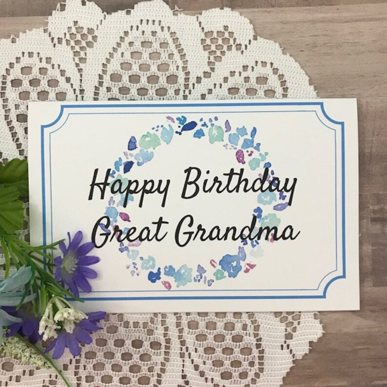 image about Printable Birthday Cards for Grandma titled Printable Birthday Card for Good Grandma - Greeting Card for Exceptional Grandmother, Grandma, Mother Mother, Grammy, Granny