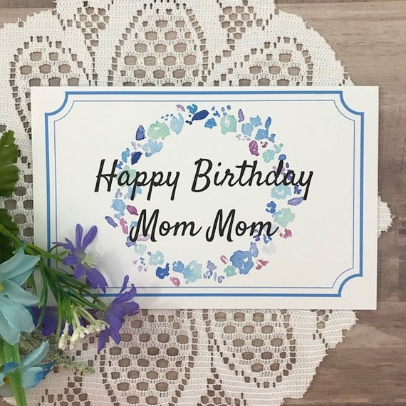 Printable Birthday Card For Mom Mom Greeting Card For Etsy