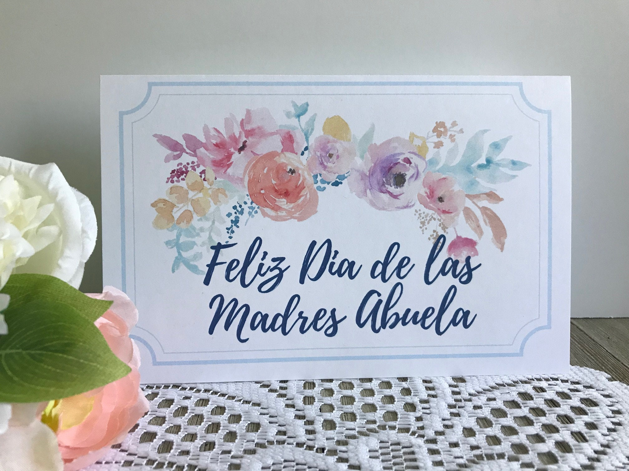 Printable Mothers Day Card In Spanish Feliz Dia De Las Etsy
