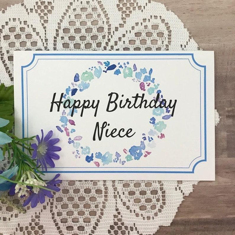 Printable Birthday Card For Niece Greeting
