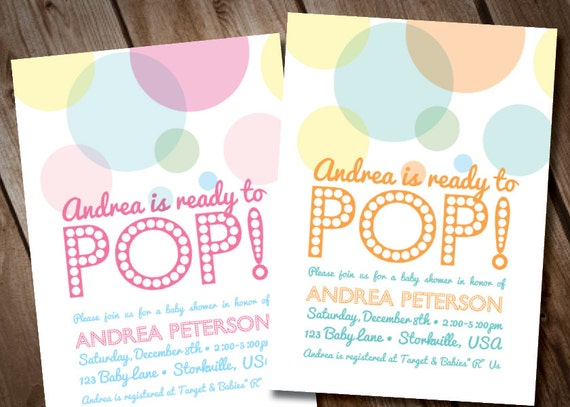 About To Pop Baby Shower Invitation Digital Invitation Ready To