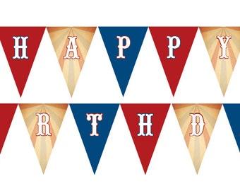 DIY Printable Vintage County Fair Birthday Banner