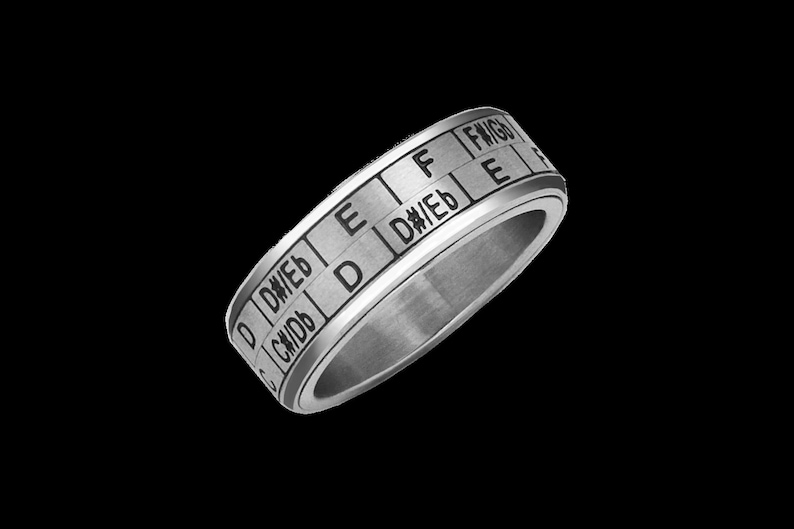 Musician Ring  Music Transposition Spinner Ring / Circle of image 0