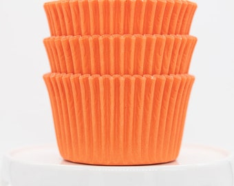 Cupcake Paper Baking Cups Cupcake Cases Muffin Cups 12 Orange Chevron Cupcake Wrappers Cupcake Party Cupcake Liners