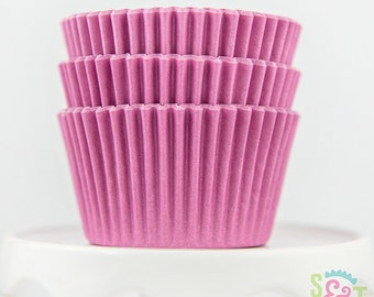 Baking Cups Cupcake Liners Qty 45 Muffin Cups Bright Pink Cupcake Liners Pink Baking Cups Pink Cupcake Liners Pink Muffin Cups