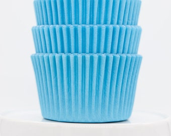 Solid Light Blue Cupcake Liners   Light Blue Greaseproof Baking Cups - 36 count pack