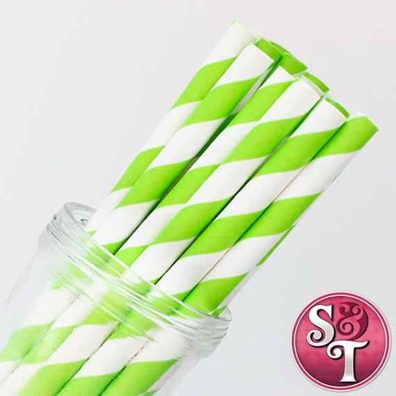 Qty 25 Pixie Sticks Stripe Orange Party Paper Straws Cake Pop Sticks