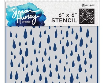 Rain Drops Rainy Weather Seattle Style 17511 Crafts Rubber Stamp Shape great for Scrapbooking Card Making Ink Stamping Crafts