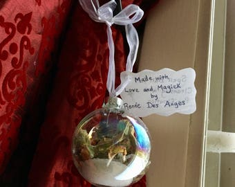Witch Ball / Spell Ball / Magickal Ornament for Cleansing & Purification