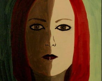 Shadow Self Original Painting Oil On Canvas Panel