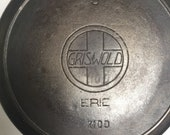 Erie ghost Griswold 710D 9 Cast Iron Skillet Slant Cross with Griswold 39 s quot Erie quot Rare
