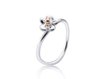 forget-me-not ring, forget me not ring, flower ring, forget me not