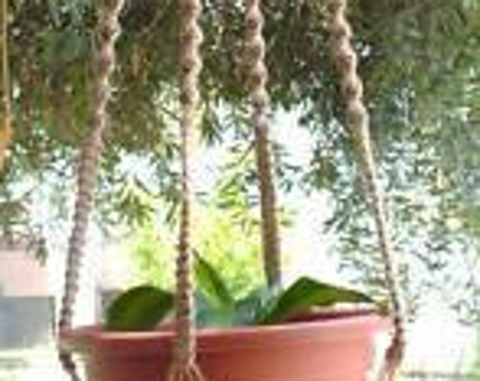 MACRAME Plant Hanger 60 in Deluxe Style with BEADS - JUTE