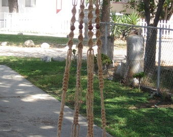 Macrame Plant Hanger 72 inch Vintage Style 6 Ply Jute with BEADS