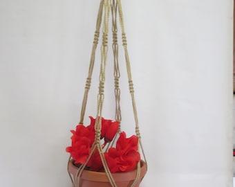 Macrame Plant Hanger Vintage Style 4mm, 36 inch Sand (Choose Color)