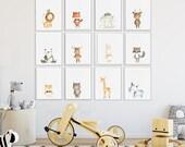 Nursery art, Baby Animal ...