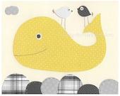 Whale Nursery Art Decor, ...