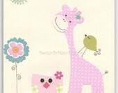 Baby girl nursery wall ar...