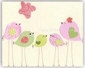 Nursery Bird Decor - Baby...