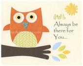 Owl Nursery Wall Art Prin...