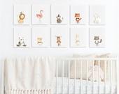 Baby Animal Nursery Art, ...