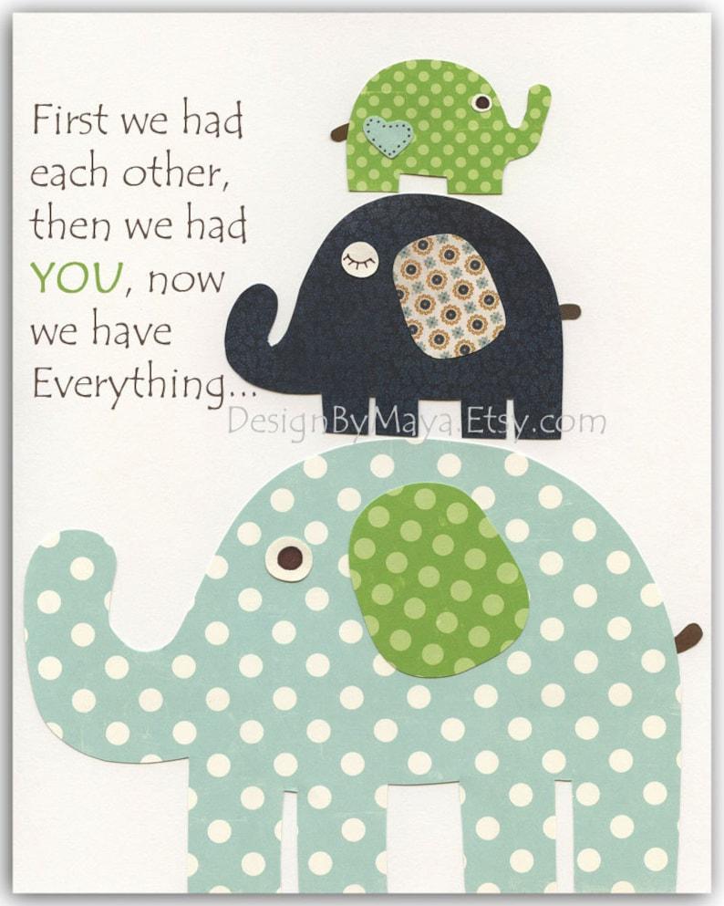 Nursery decor Gender Neutral Nursery wall Art Decor For Kids Gender Neutral Nursery Art Baby Elephant First We Had Gray Yellow teal grey