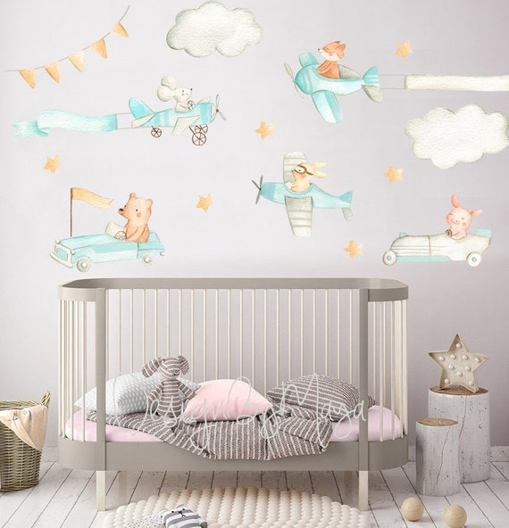 American Super Cars Mixed Multi Pack Childrens Wall Stickers Decals 4 Sizes