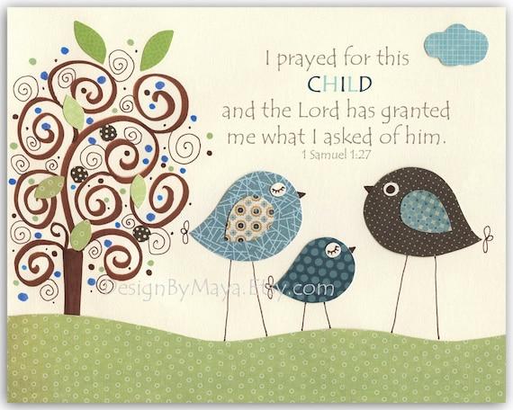 Items Similar To Baby Boy Baptism Nursery Wall Art Decor