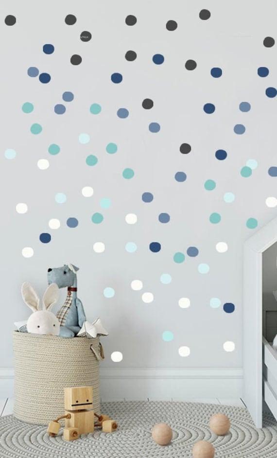 Kinderzimmer Kinderzimmer junge klammert sich Navy Blue Polka Punkten  Kinderzimmer Wand Aufkleber Kinder Wand Aufkleber moderne Kinderzimmer ...