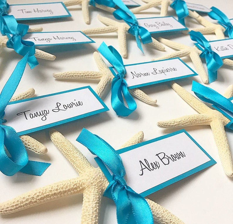 Destination Wedding, Starfish Wedding Decorations, Starfish Escort Card,  Starfish Place Card, Beach Escort Card