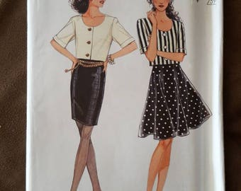 VINTAGE Style 2100 Misses Jacket and Skirts 6-16 (1991)