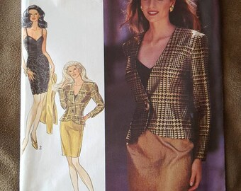 VINTAGE Style 2204 Misses Jacket, Top and Skirts 6-16 (1991)