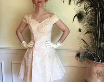658b0c3c Sz 4 Zippy Lace & Crystals 90's Retro 50s Party Dress by Zum Zum NWT