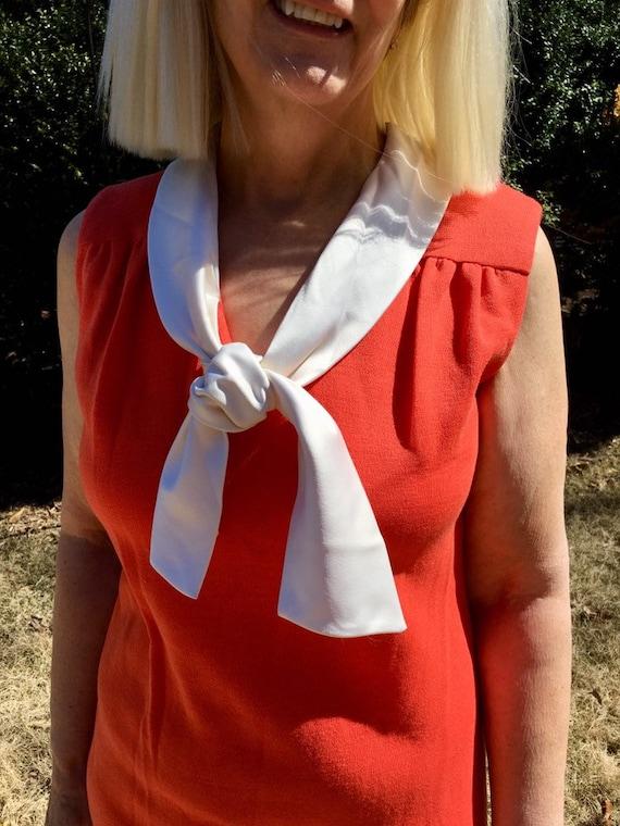 Sz 6/8/M Orangsicle 60s Maxi Hostess Gown by Nat K