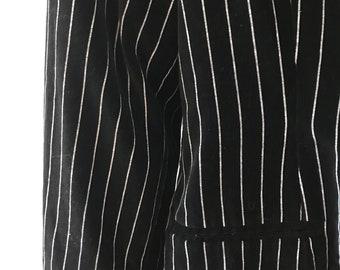 Sz 12 Rocking Black Pinstripe Velveteen Blazer