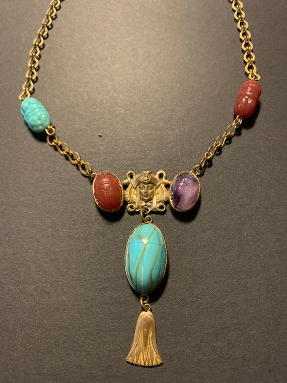 1920s Egyptian Revival Necklace - image 2