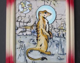 Space Meerkat - original art piece