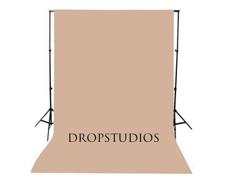 Almond Solid Photography Backdrop, Seamless, Wash/Dry
