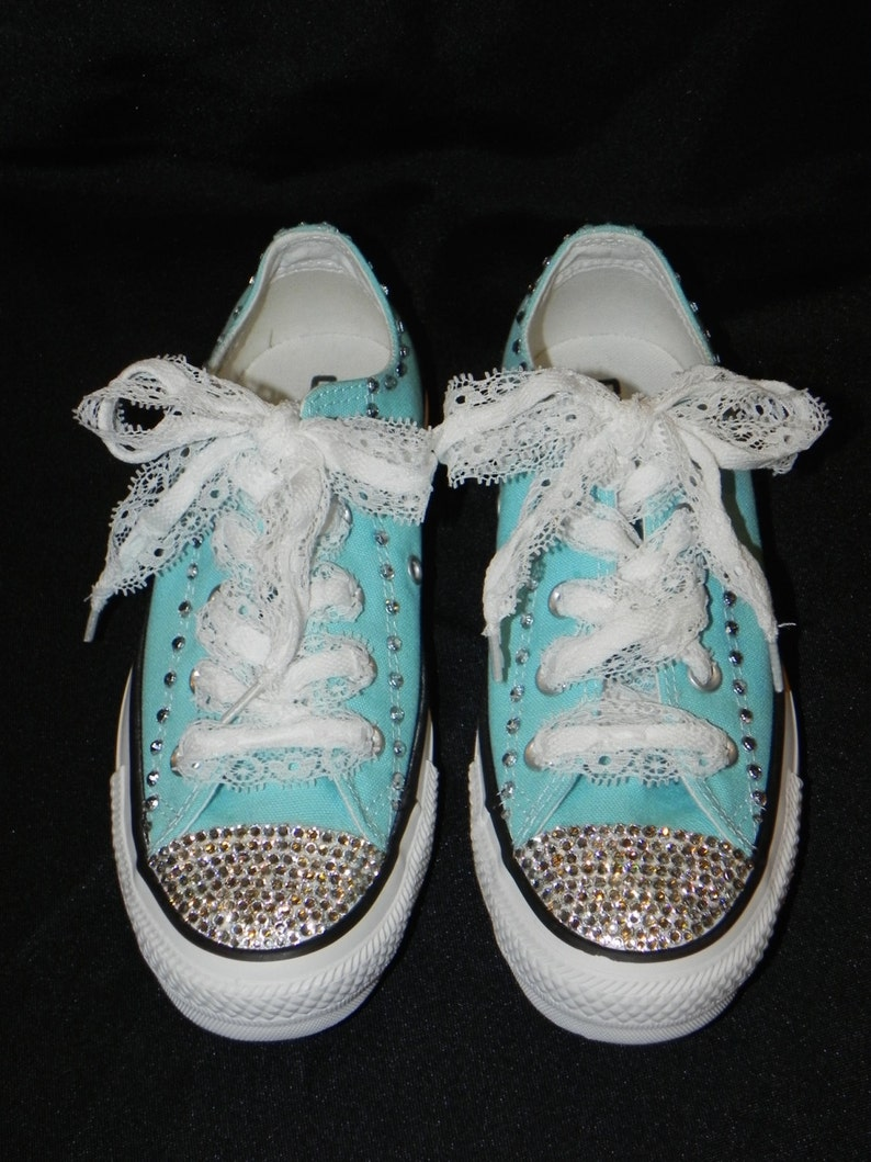 Rhinestone and Lace Converse Shoes Bridal Converse  350769b65